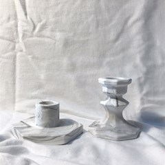 팔각마블 테이퍼 촛대
