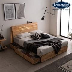 잉글랜더 포틀랜드 LED 원목 수납 침대(NEW E호텔 양모_(12742916)