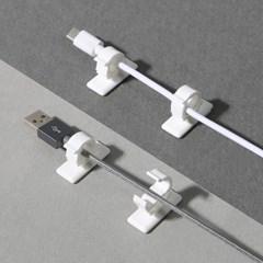 컴퓨터 랜선 USB 케이블정리 벽부착 FIX 클립홀더 4EA_(1200337)