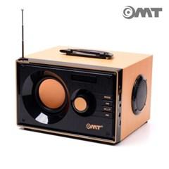 OMT 우드 레트로 2.1채널 블루투스스피커 리모콘포함 OBS-RETRO