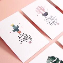 패이버릿 수채화 캘리 엽서 시리즈