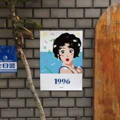 시티팝2 M 유니크 인테리어 디자인 포스터 레트로 음악