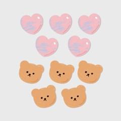 Dot love and bear(커팅 스티커)_(1580648)