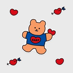 Bear heart(커팅 스티커)_(1580650)