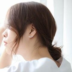 제이로렌 SM054 골드 큐빅 실버 리본 귀걸이_(1044605)