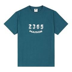 23.65 MAISON SHADOW LOGO HALF T-SHIRTS BLUE