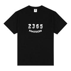 23.65 MAISON SHADOW LOGO HALF T-SHIRTS BLACK