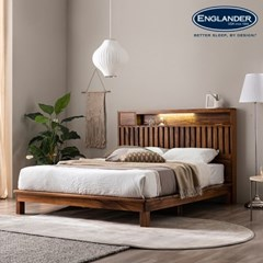 잉글랜더 오르 전체 로즈우드 LED 평상형 침대(NEW E호_(12743213)