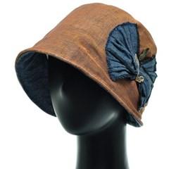 [플릭앤플록]IAS01.마혼방 리본 여성 비니 벙거지 모자