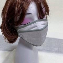 빨아쓰는 KF94필터 끈조절 숨쉬기편한 얇은 린넨 중형 마스크