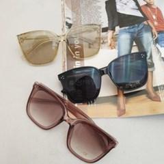 옐로우 브라운 블랙 UV400 사각 뿔테 안경 선글라스