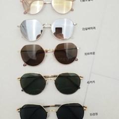 브라운 카키 블랙 밀러 팔각 메탈 선글라스 UV400