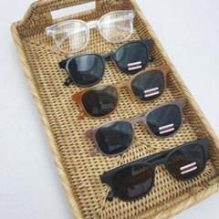 투명 검정 오렌지 무광 뿔테 선글라스 안경테 UV400