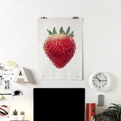 패브릭 천 포스터 F325 과일 인테리어 그림 액자 딸기
