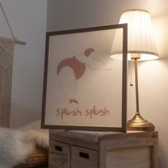 은은한 비침이 예쁜 베일리쉬 패브릭 액자(Splash Splash DV)