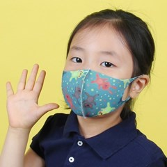 조이할리 아동용 3D입체 데일리 쿨 항균 마스크 5매입+교체필터 20매