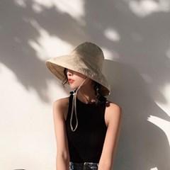 여성 왕골모자 밀짚모자 여름모자 모자[SW-8 라운드 버킷햇]