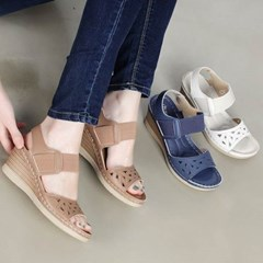 kami et muse Elastic band top wedge heel sandals_KM20s153