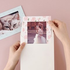 스탠딩 페이퍼프레임 - 4x6 플로럴 5매 (종이액자)