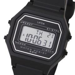 [파우치+키링증정] 베이직 디지털 러버 시계_블랙(AG2G0702DABB)