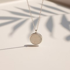 925silver Arin Marble SignaturenNecklace (White Gold)