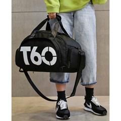 T60 스포츠 더플백(블랙화이트)