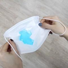 국내, 외 인증 3중 멜트블로운필터 고급 1회용 마스크 100매 - 대형