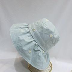 플라워 여성 물결 챙넓은 깊은 버킷햇 벙거지 모자