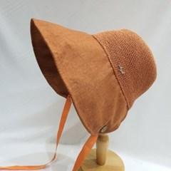 투톤 단추 턱끈 패션 빈티지 면 버킷햇 벙거지 모자