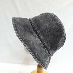 빈티지 패션 데님 청 숏챙 면 버킷햇 벙거지 모자