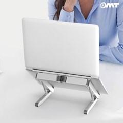 OMT 접이식 알루미늄 4단계 각도조절 노트북거치대 N1