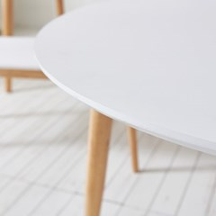 가구데코 플랜 HPL 화이트 1000 원형 테이블 NE0158