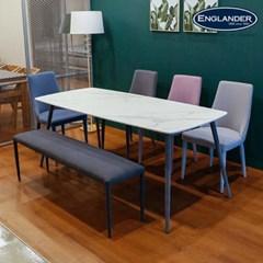 잉글랜더 몽블랑 통세라믹 6인용 식탁(벤치1+의자3)_(12748755)