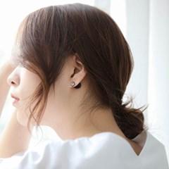 제이로렌 SM042 블랙 투웨이 큐빅 진주 귀걸이_(1047279)