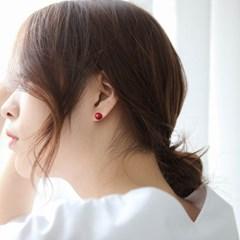 제이로렌 M03343 실버 빨간진주 귀걸이_(1047283)