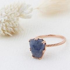 10K/14K 베일리 블루 아벤츄린 반지