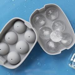 파스텔 실리콘 아이스몰드 얼음틀 빅아이스볼 6구(3colo_(1935959)