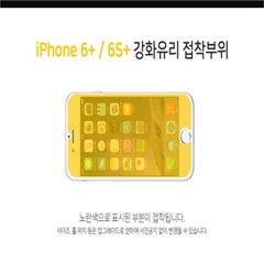 솔츠 아이폰 6+ 풀커버 강화유리 방탄 액정보호필름