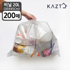 분리수거함 휴지통 비닐봉투 (30*45Cm)20L 200매