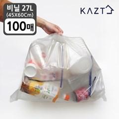 분리수거함 쓰레기통 비닐봉투 (45*60Cm)27L 100매