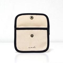 Signature mini wallet (solid) - beige