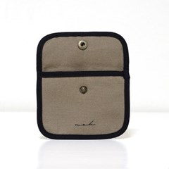 Signature mini wallet (solid) - tan