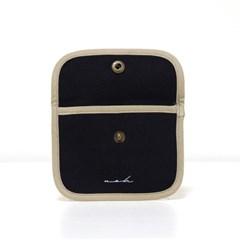 Signature mini wallet (solid) - black