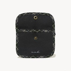 Signature mini wallet (check) - khaki