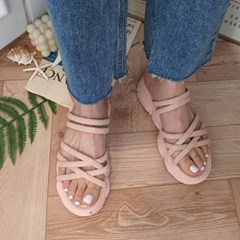 kami et muse Suede multi strap tall up slippers_KM20s160