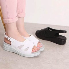 kami et muse Mash combi comfort wedge sandals_KM20s158