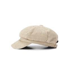 boni newsboy cap - tweed beige