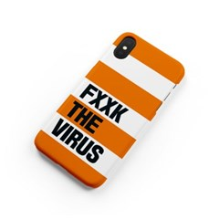 FXXK THE VIRUS_stripe orange [하드/카드슬롯]