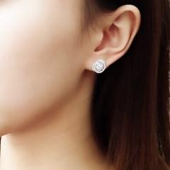 [오팔하우스]925Silver 올라운드 큐빅 귀걸이
