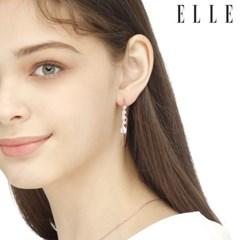14K 서클 드롭 큐빅 귀걸이 (gold pin) ELGPEE285_(990144)